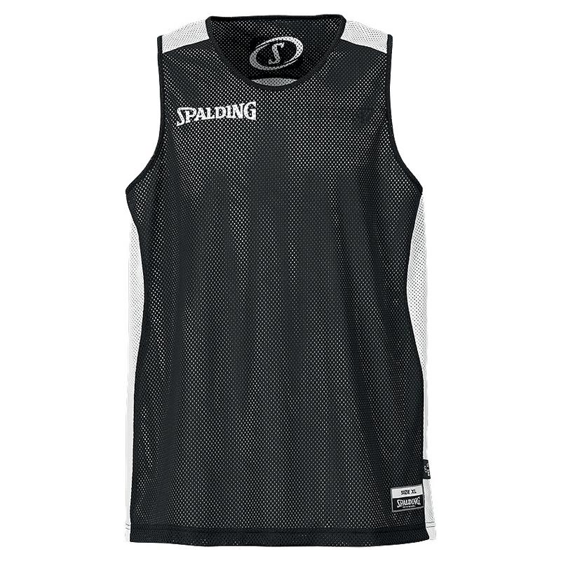 Spalding Essential Reversible Shirt - Noir & Blanc