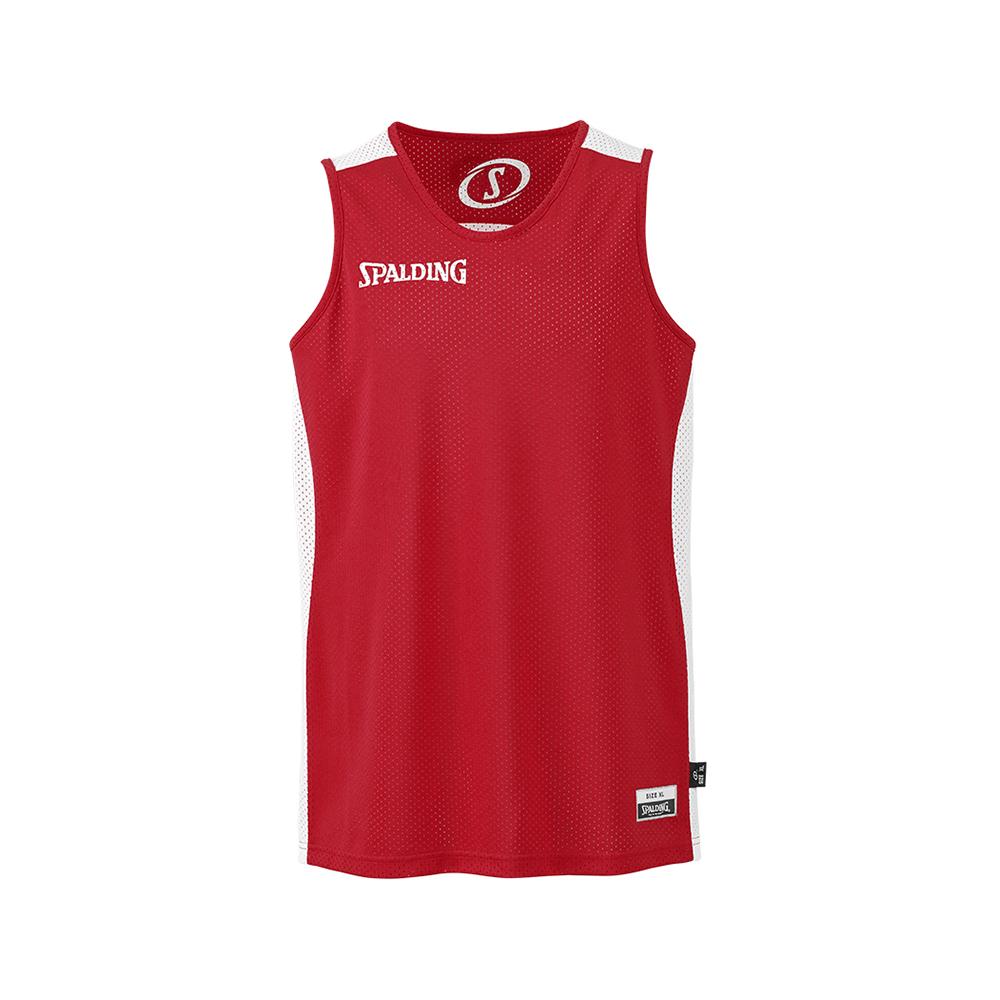 Spalding Essential Reversible Shirt - Rouge & Blanc