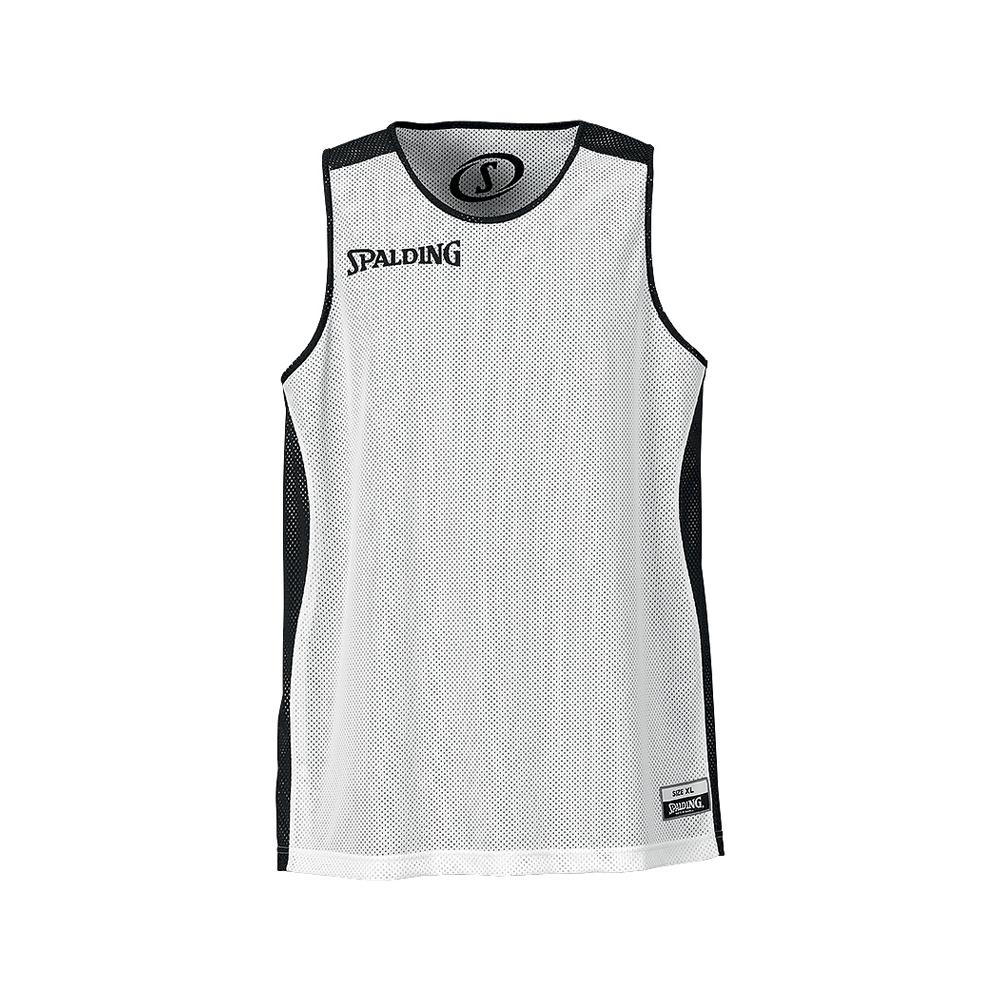 Spalding Essential Reversible Shirt - Noir & Blanc - Face blanche