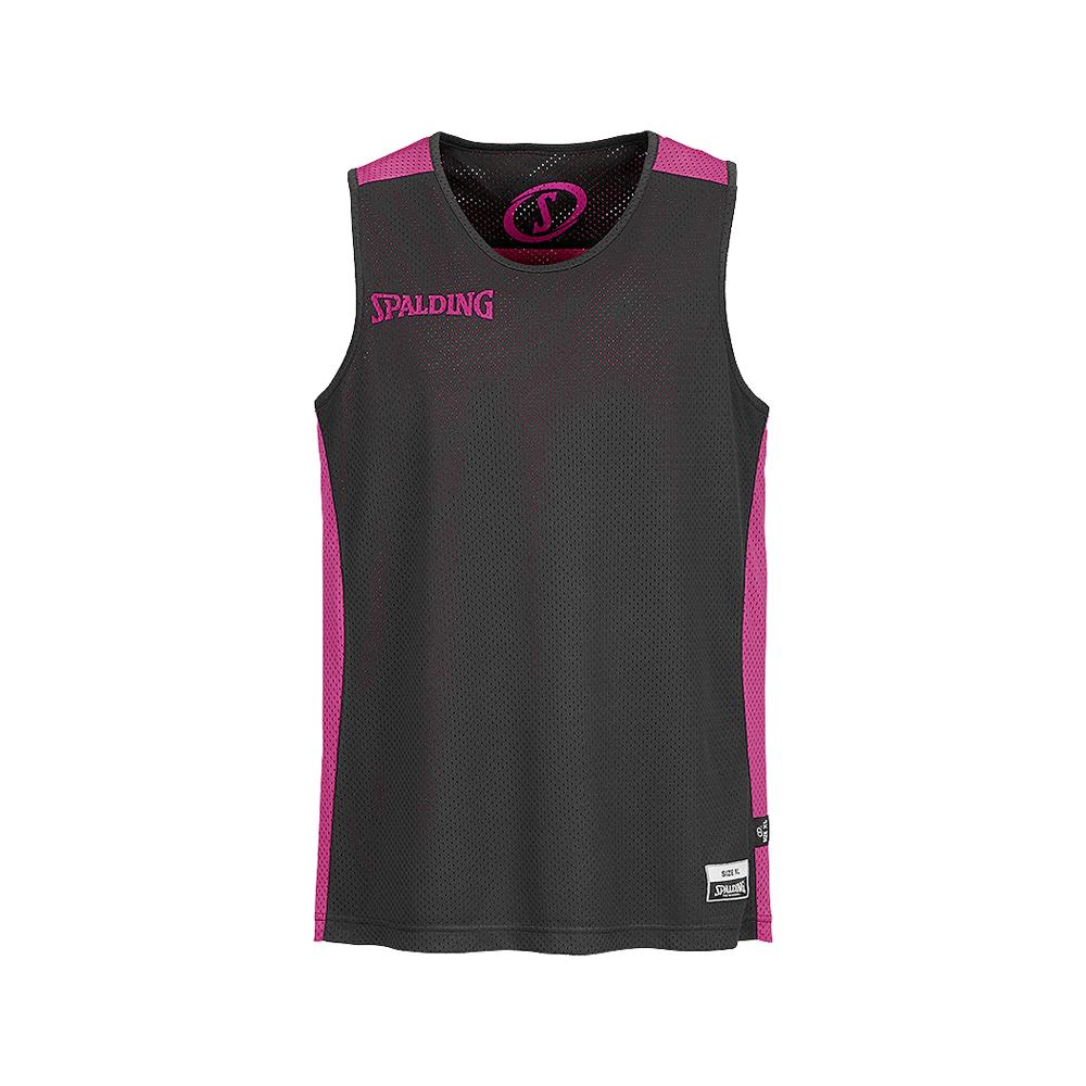 Spalding Essential Reversible Shirt - Rose & Noir - Face noire
