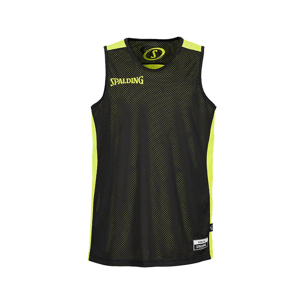 Spalding Essential Reversible Shirt - Jaune & Noir - Face noire