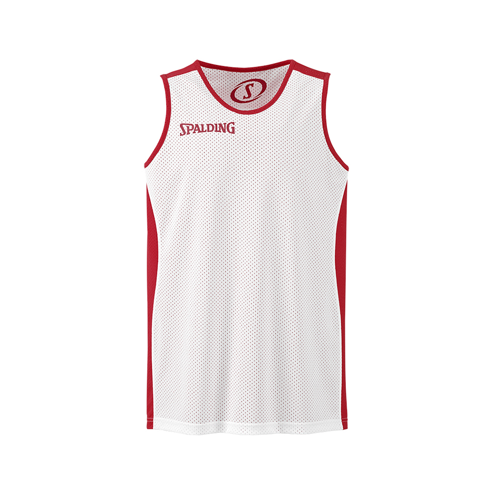 Spalding Essential Reversible Shirt - Rouge & Blanc - Face blanche