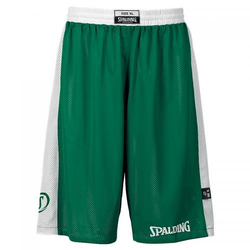 Spalding Essential Reversible Shorts - Vert & Blanc