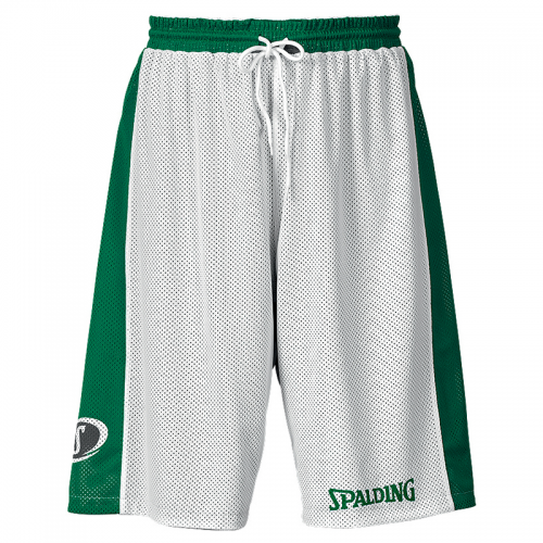 Spalding Essential Reversible Shorts - Vert & Blanc - Face blanche