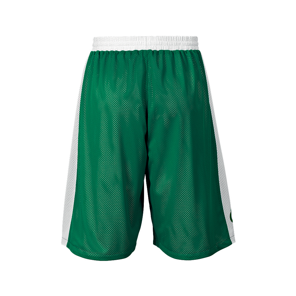 Spalding Essential Reversible Shorts - Vert & Blanc - Dos