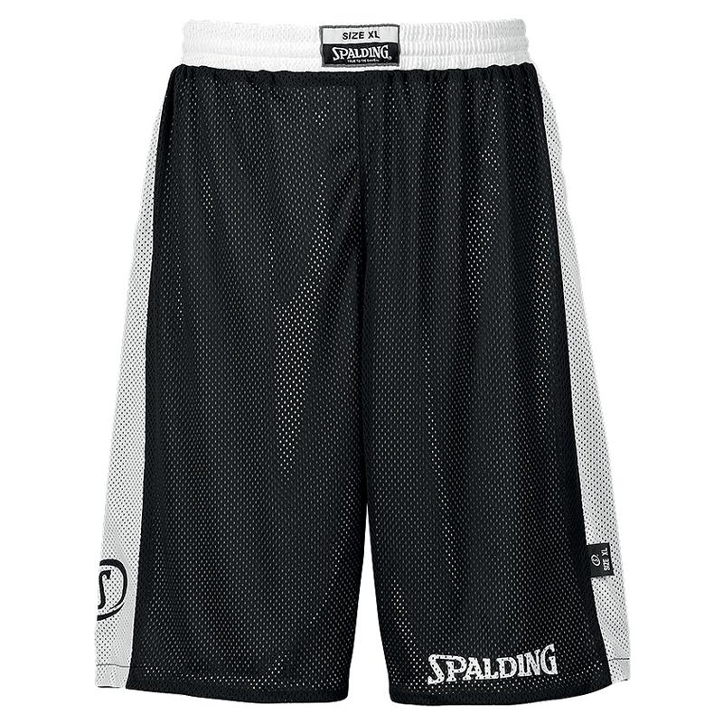 Spalding Essential Reversible Shorts - Noir & Blanc