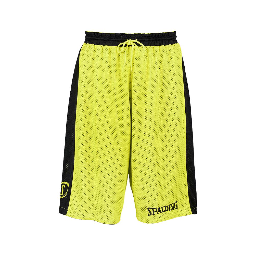 Spalding Essential Reversible Shorts - Jaune & Noir