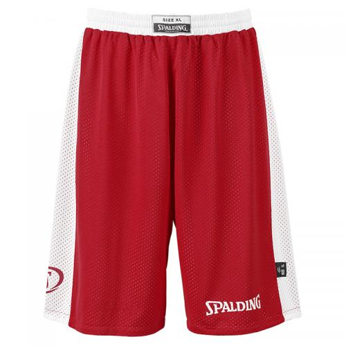 Spalding Essential Reversible Shorts - Rouge & Blanc