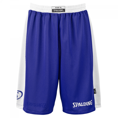 Spalding Essential Reversible Shorts - Royal & Blanc