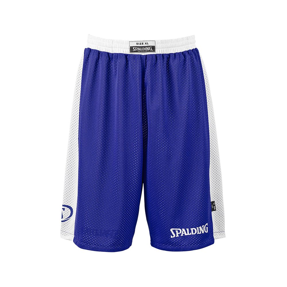 Spalding Essential Reversible Shorts - Royal & Blanc
