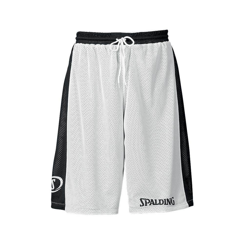 Spalding Essential Reversible Shorts - Noir & Blanc - Face blanche