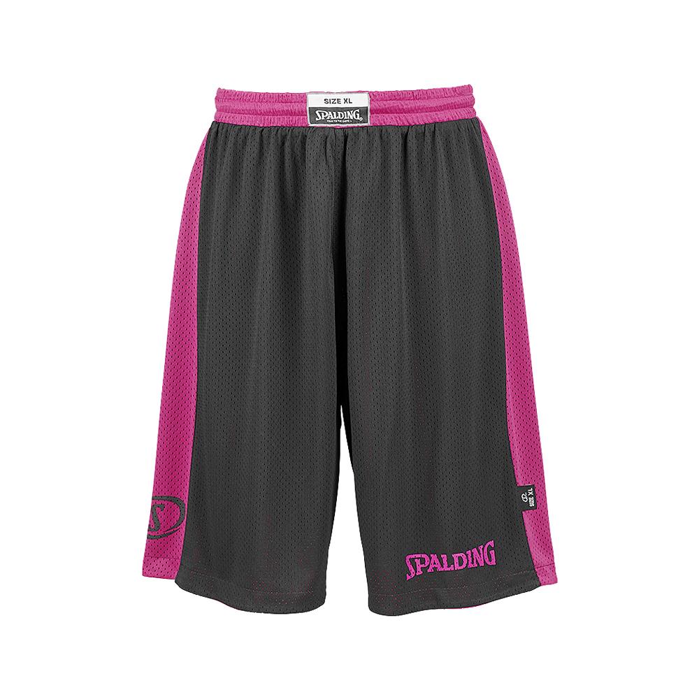 Spalding Essential Reversible Shorts - Rose & Noir - Face noire