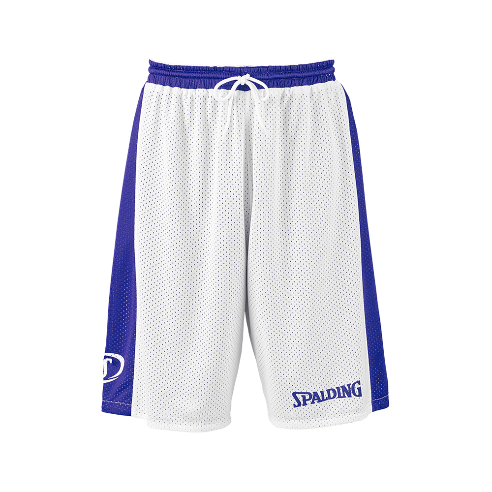 Spalding Essential Reversible Shorts - Royal & Blanc - Face blanche