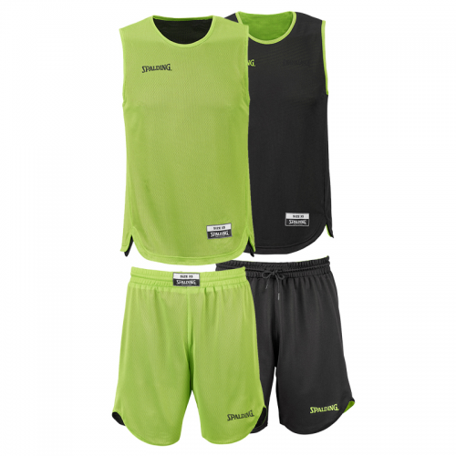 Spalding Double Face Kid Set - Vert & Noir