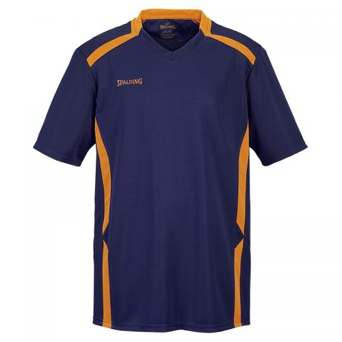 Spalding Offense Shooting Shirt - Marine & Orange