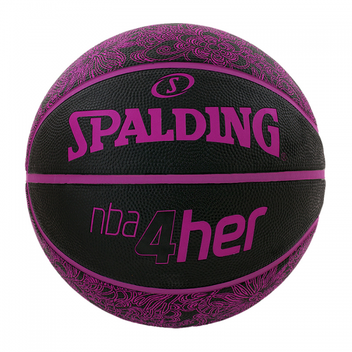 Spalding 4Her Ball - Noir & Rose