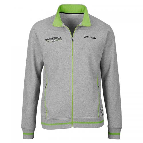 Spalding Team Zipper Jacket - Gris & Vert