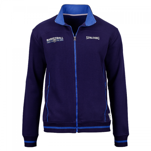 Spalding Team Zipper Jacket - Marine & Azur