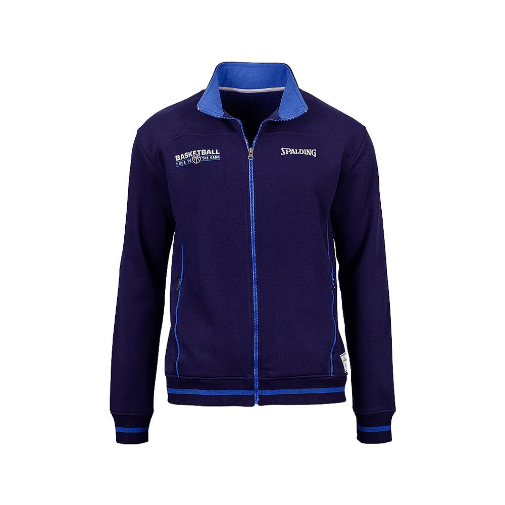 Spalding Team Zipper Jacket - Marine & Azur