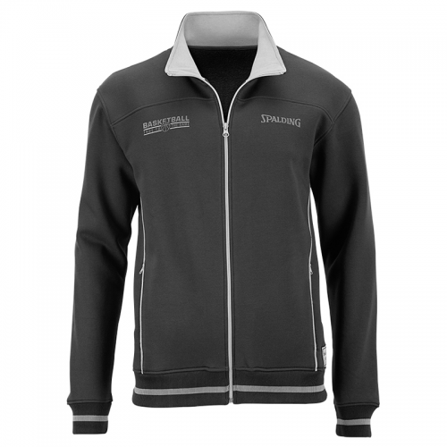 Spalding Team Zipper Jacket - Noir & Gris