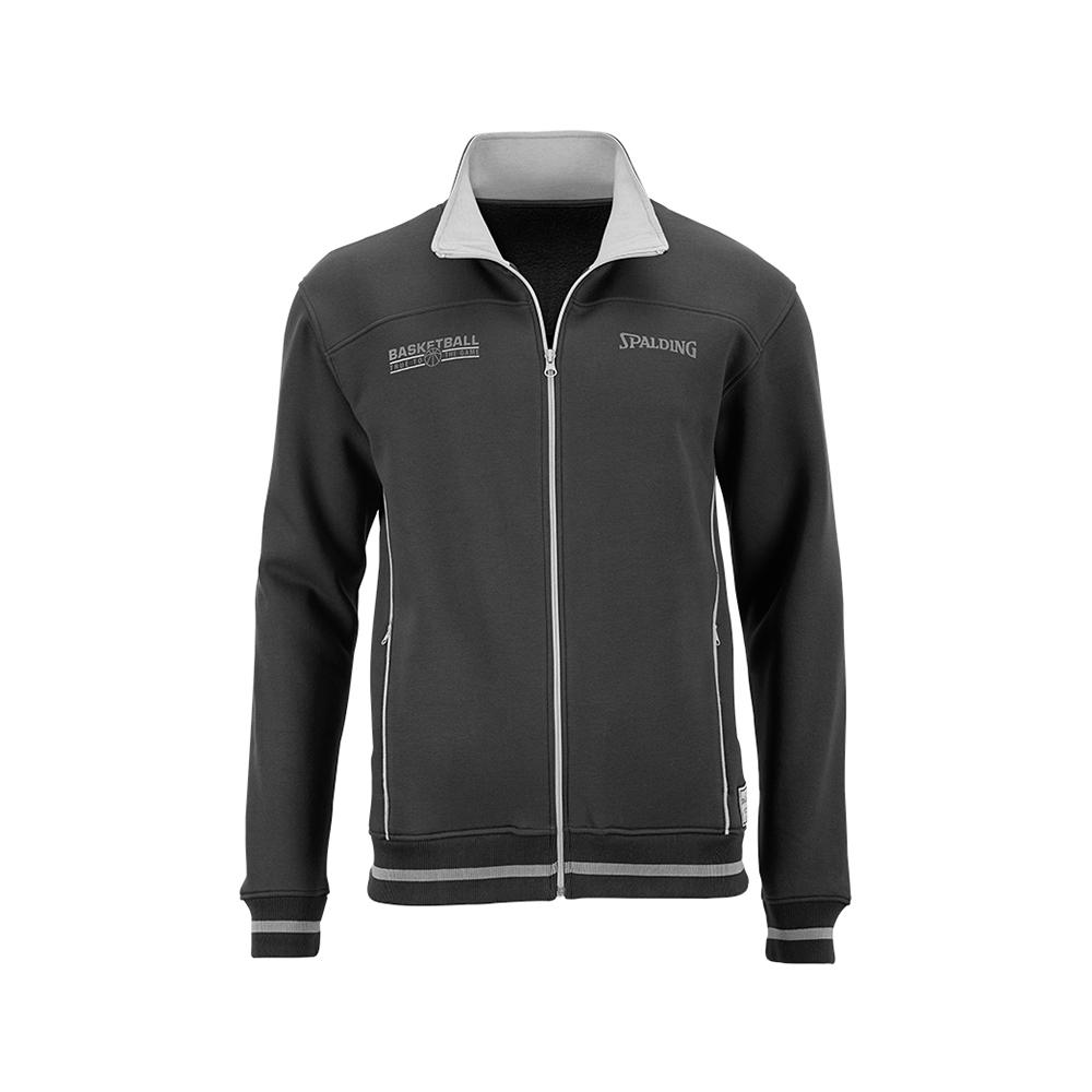 Spalding Team Zipper Jacket - Noir & Gris
