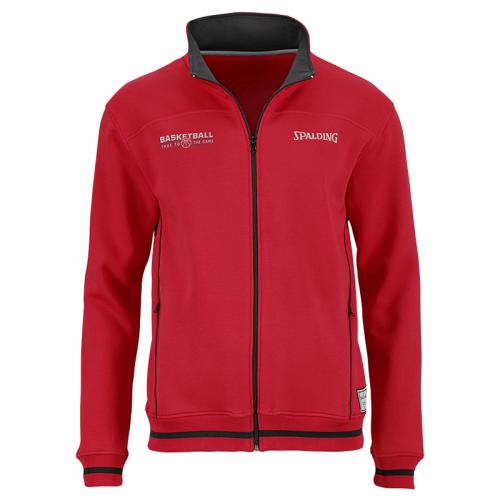 Spalding Team Zipper Jacket - Rouge & Noir