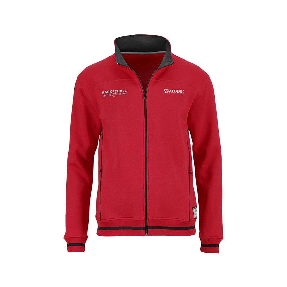 Spalding Team Zipper Jacket - Rouge & Noir
