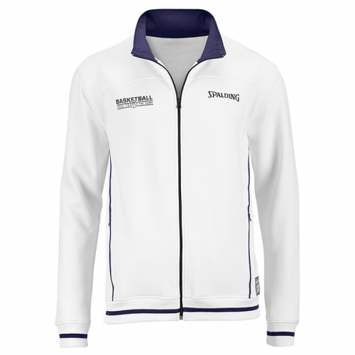 Spalding Team Zipper Jacket - Blanc & Marine