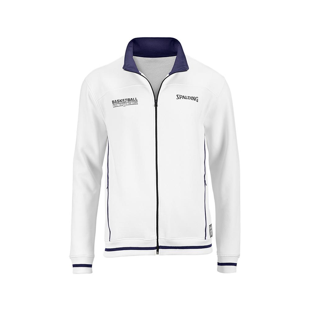 Spalding Team Zipper Jacket - Blanc & Marine