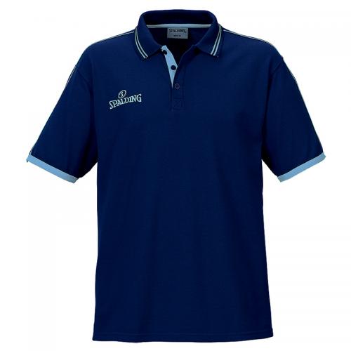 Spalding Polo Shirt - Marine & Ciel