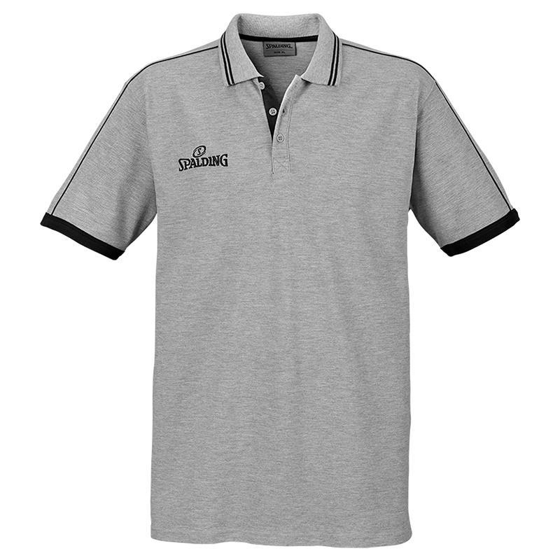 Spalding Polo Shirt - Gris & Noir