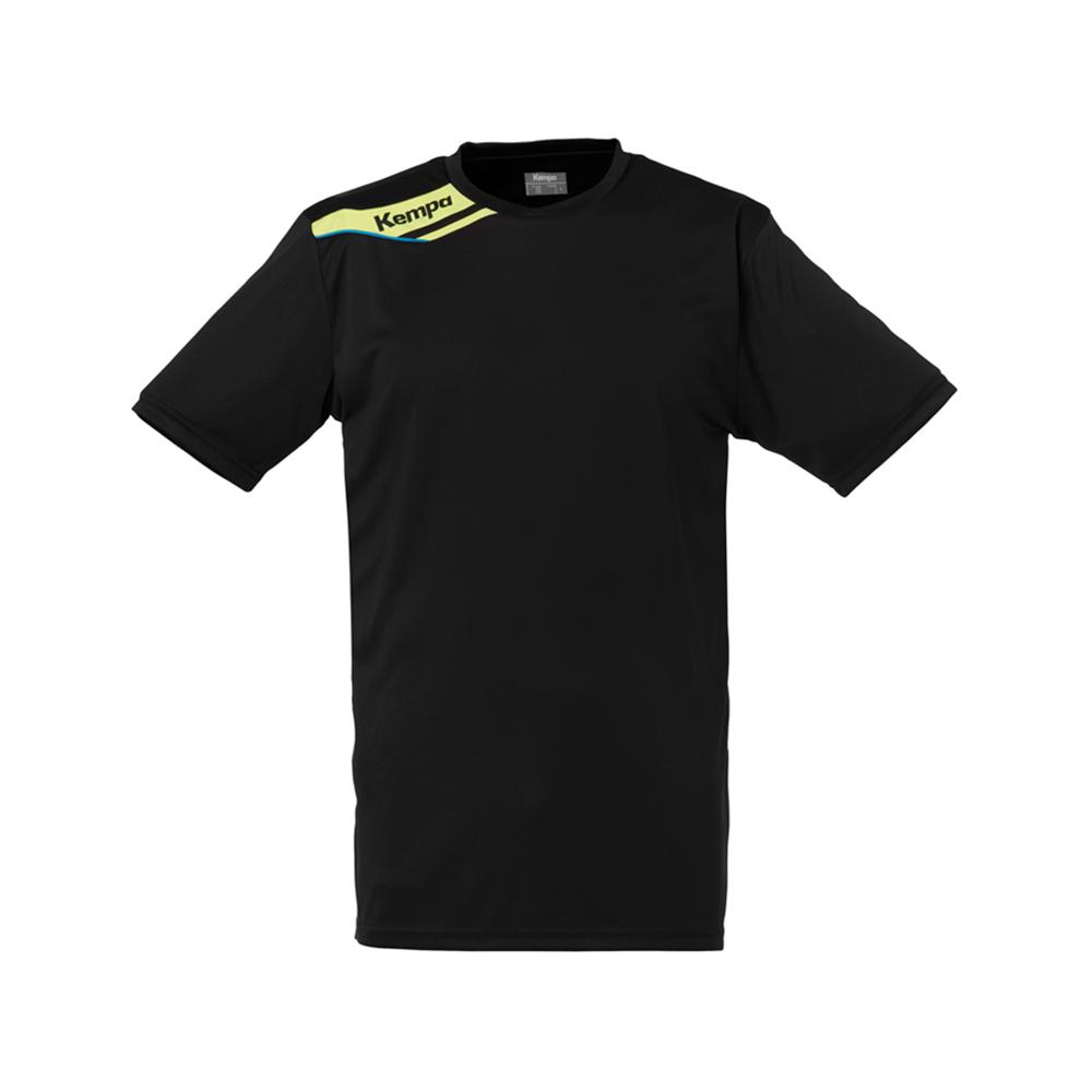 Kempa Offense Shirt - Noir & Jaune Fluo