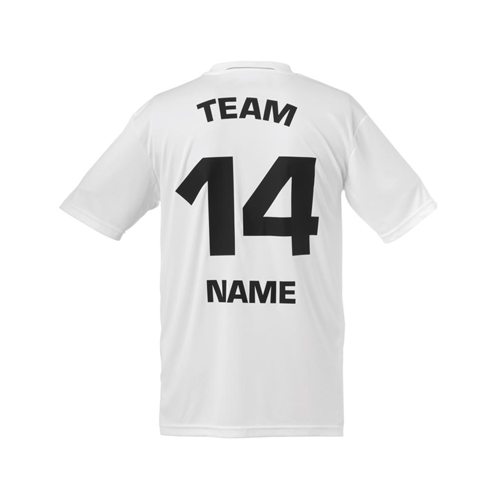Kempa Offense Shirt - Blanc - Exemple de marquage dos