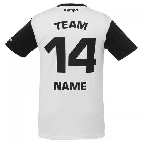 Kempa Emotion Shirt - Blanc & Noir - Exemple de marquage dos