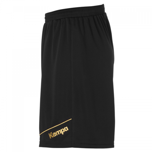 Kempa Gold Shorts - Noir & Or - Jambe gauche