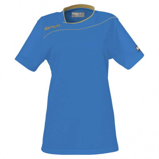 Kempa Gold Shirt Women - Bleu Kempa