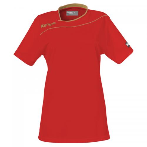 Kempa Gold Shirt Women - Rouge