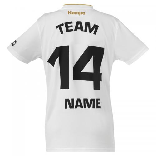 Kempa Gold Shirt Women - Blanc - Exemple de marquage dos