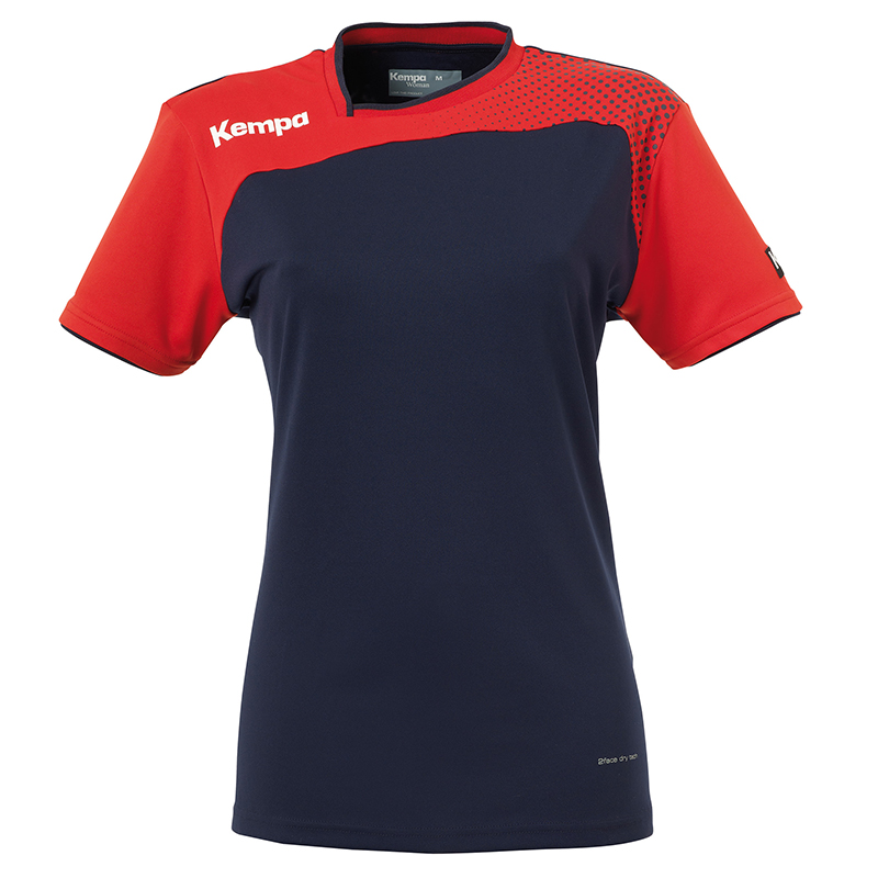 Kempa Emotion Women Shirt - Marine & Rouge