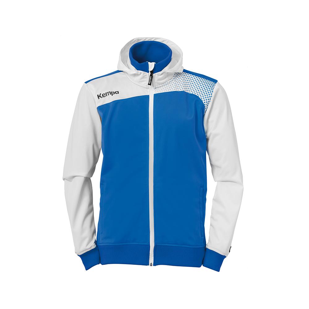 Kempa Emotion Hood Jacket - Azur & Blanc