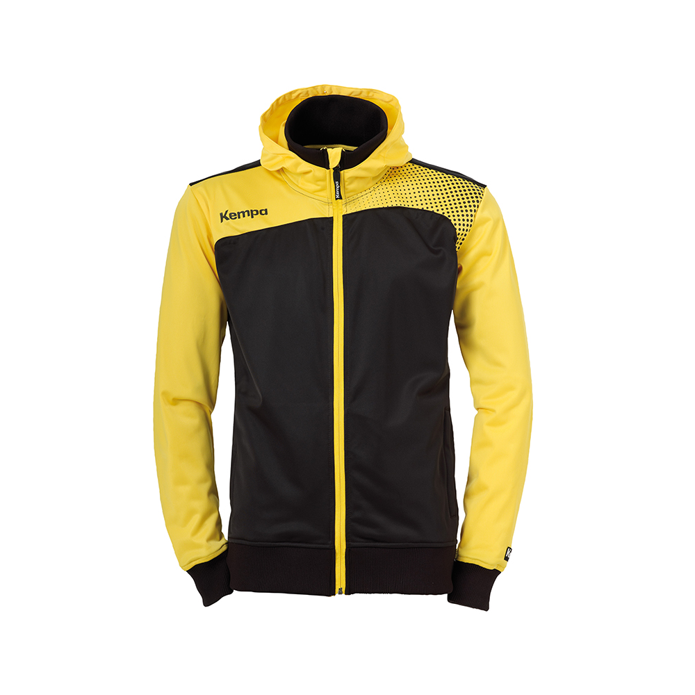 Kempa Emotion Hood Jacket - Jaune & Noir