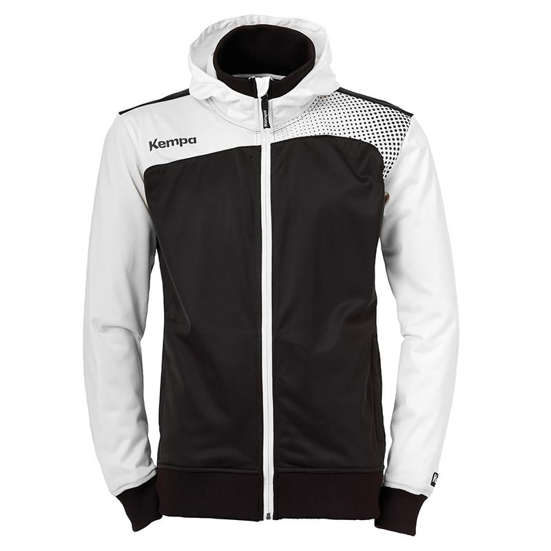 Kempa Emotion Hood Jacket - Noir & Blanc