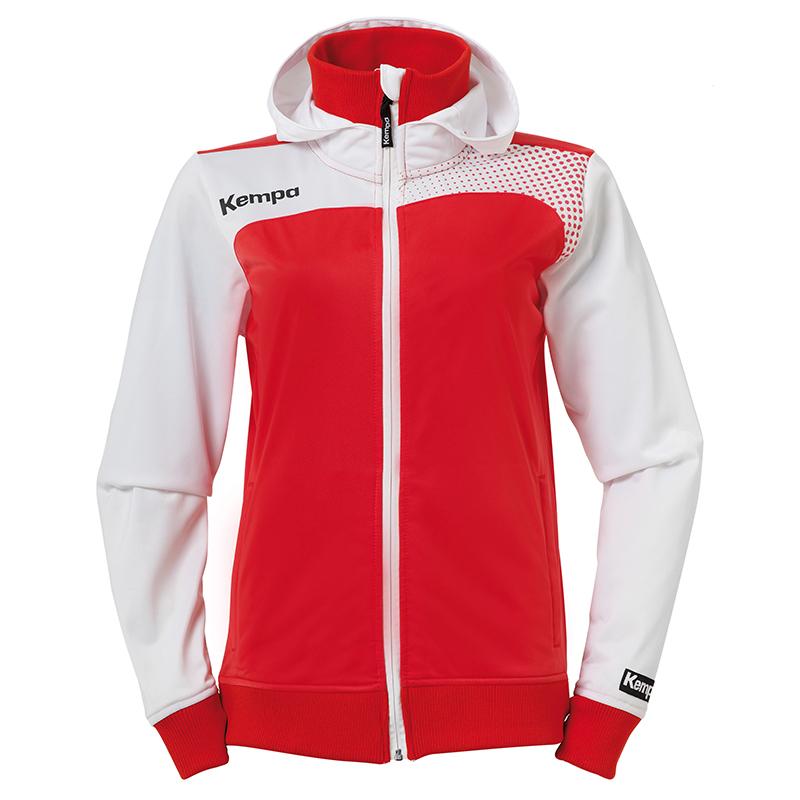 Kempa Emotion Women Hood Jacket - Rouge