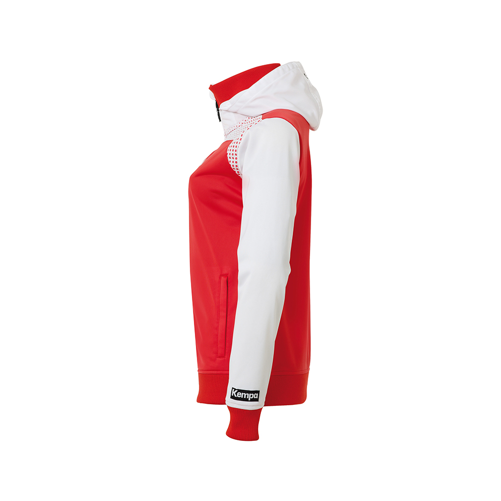 Kempa Emotion Women Hood Jacket - Rouge - Vue de côté