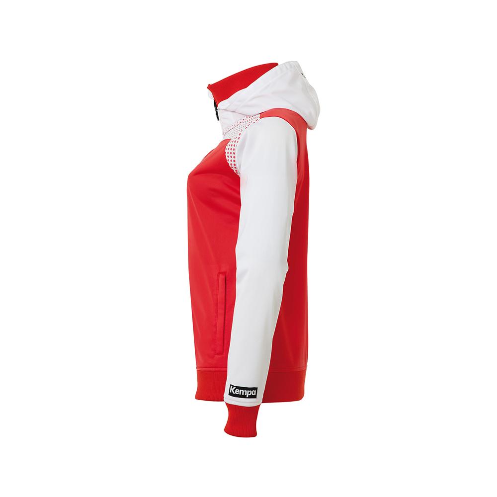 Kempa Emotion Women Hood Jacket - Rouge - Vue de côté