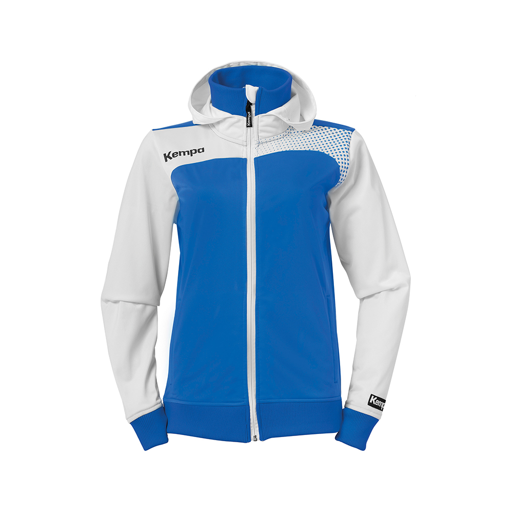 Kempa Emotion Women Hood Jacket - Azur & Blanc