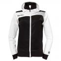 Kempa Emotion Women Hood Jacket - Noir & Blanc