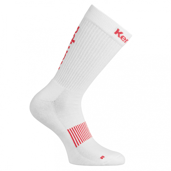 Kempa Logo Classic Socks - Blanc & Rouge