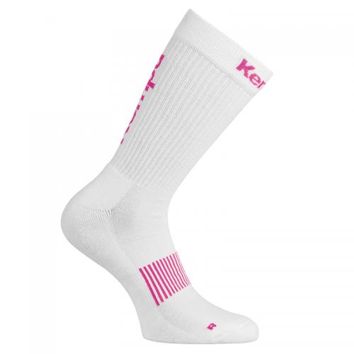 Kempa Logo Classic Socks - Blanc & Rose