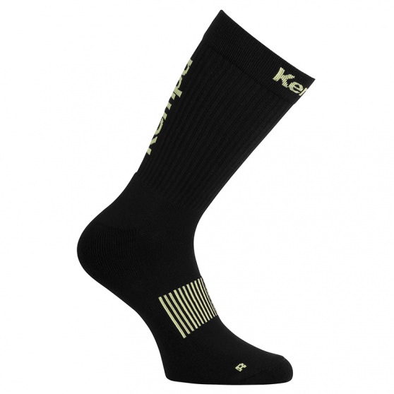 Kempa Logo Classic Socks - Noir & Jaune Fluo